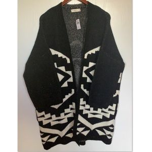 Abercrombie & Fitch Sweater Coat Native Pattern